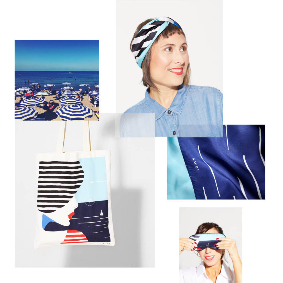 1_limited edition collection of tote bags and luxury fashion and home decor accessories inspired by france and the mediterannean seaside