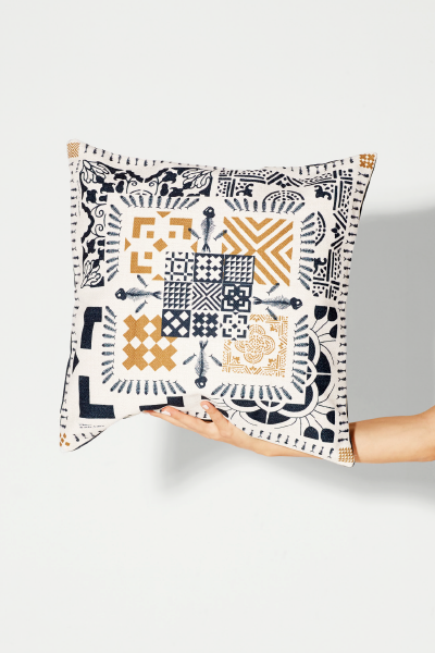 2_about awol_black and white graphic cushion cover