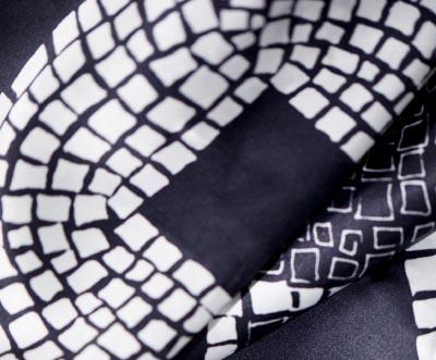 18 silk scarf detail hand drawn geometric pattern on textile