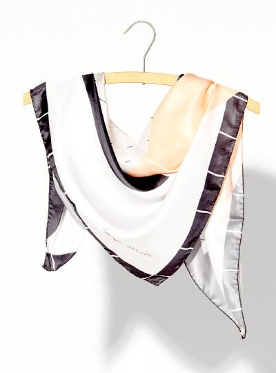 8_copenhagen silk scarf_silk scarf inspired by scandinavian danish design_scarf on a hanger_creationsawol.com